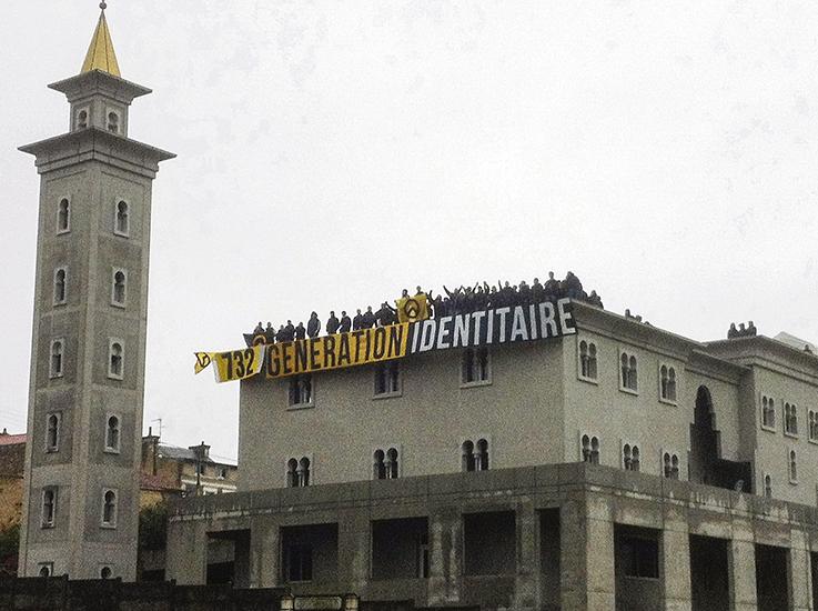 Ocupación de la mezquita francesa de Poitiers en 2012 por parte del movimiento identitario francés